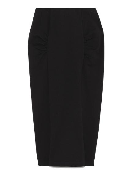 フロントギャザーカットスカート(BLK-F)