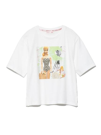 BarbieビーチプリントTシャツ