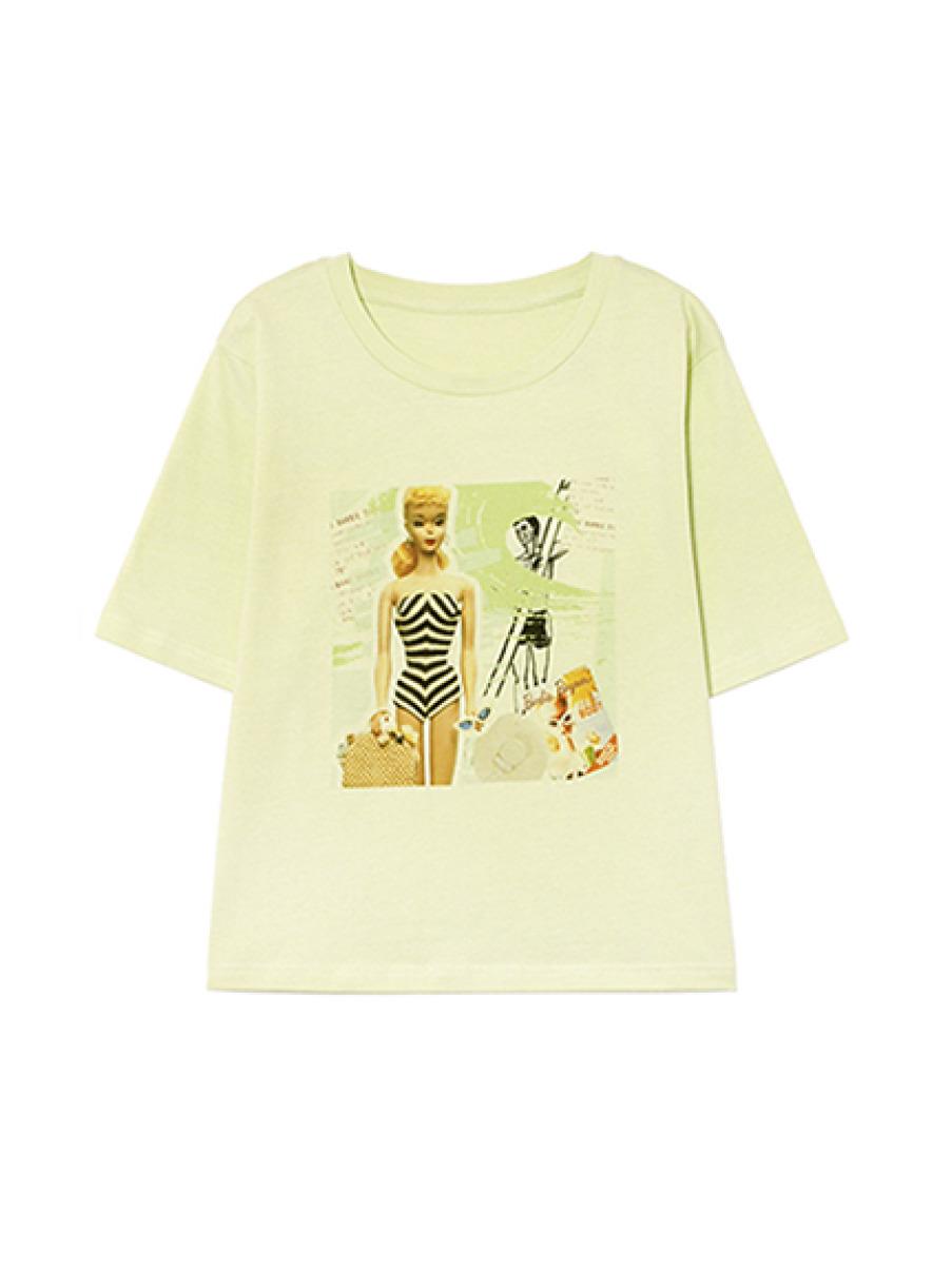 BarbieビーチプリントTシャツ(MNT(限定カラー)-F)