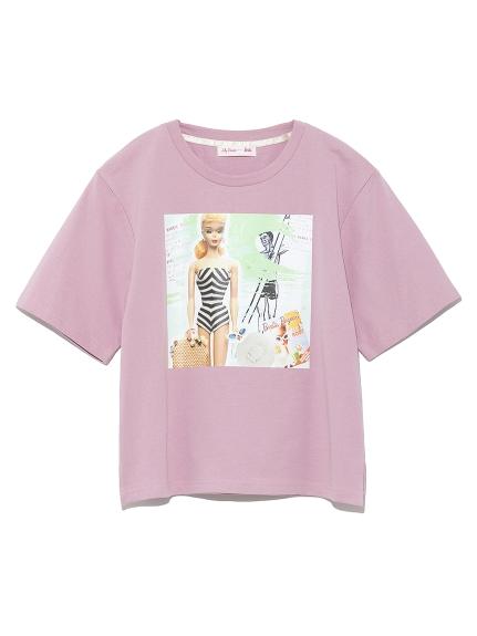 BarbieビーチプリントTシャツ(PNK-F)