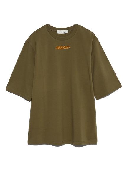 エナメルロゴプリントTシャツ