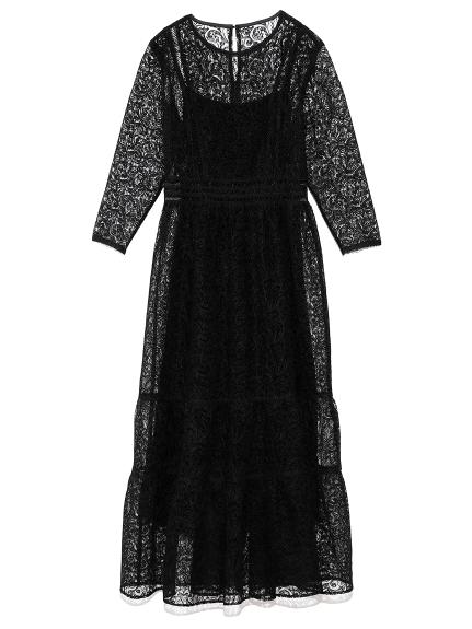 チュールレースドレス(BLK-0)