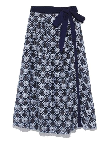 スパンコール刺繍スカパン