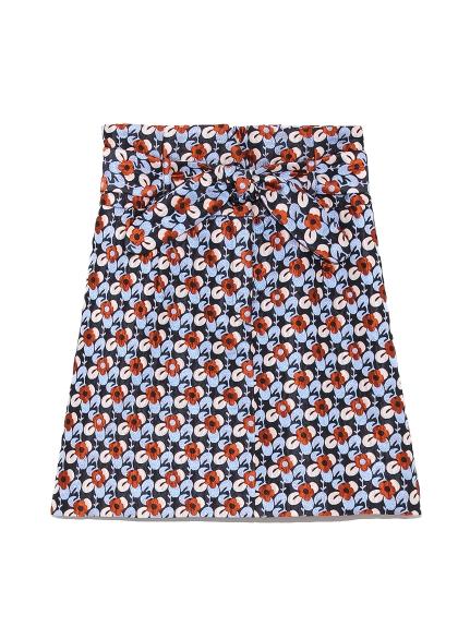 ジャガード台形スカート(NVY-0)