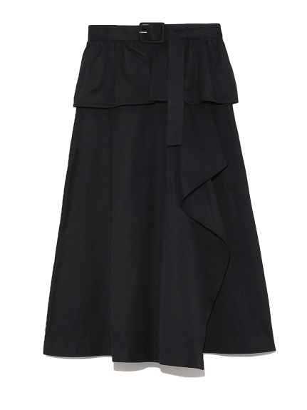 ベルト付きトレンチスカート(BLK-F)