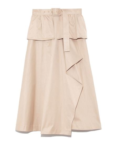 ベルト付きトレンチスカート(BEG-F)
