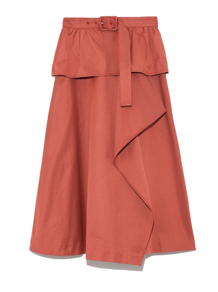 ベルト付きトレンチスカート(ORG-F)