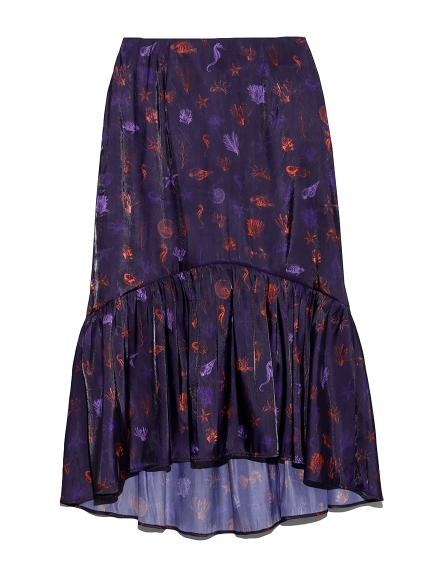 sea柄マーメイドスカート
