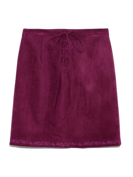 裾刺繍台形スカート