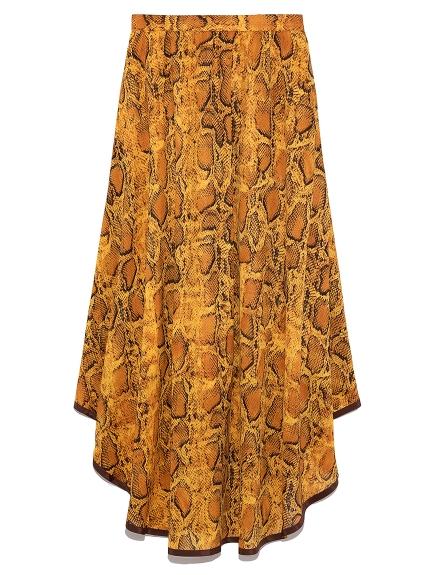 裾パイピングシフォンスカート(YEL-F)