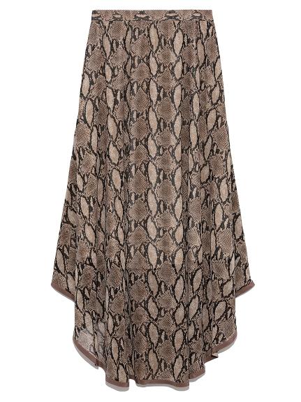 裾パイピングシフォンスカート
