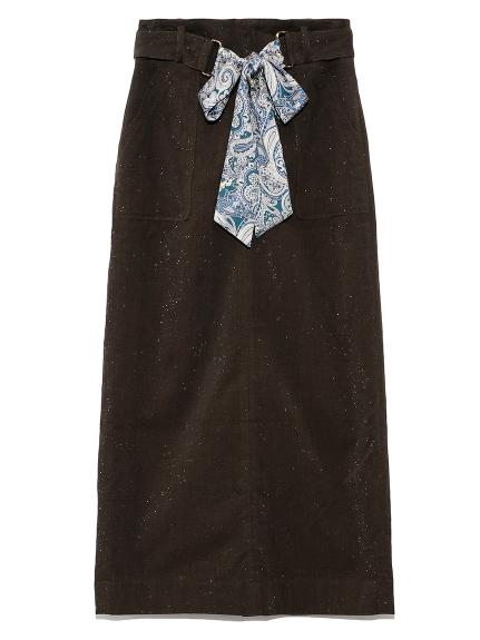 コーデュロイタイトスカート