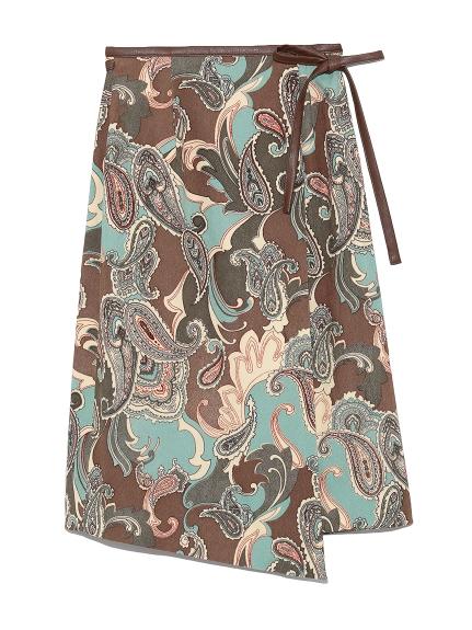 パイピングラップスカート(BLU-F)