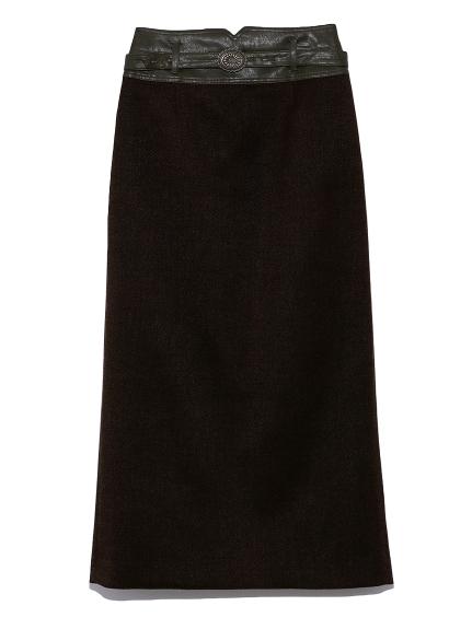 合皮切り替えタイトスカート(KKI-0)