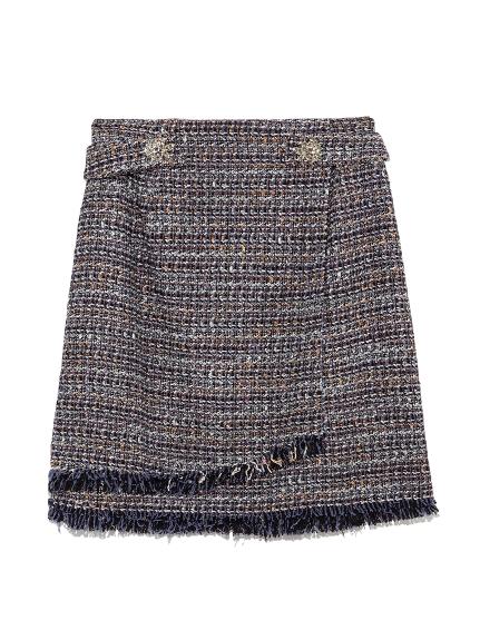 [L.B CANDY STOCK]ツイード台形コラボスカート