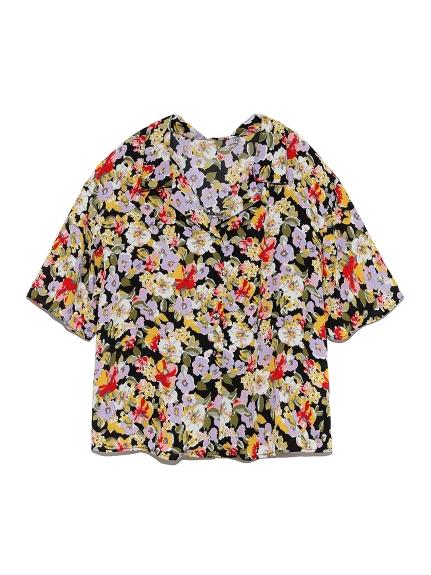 ヴィンテージフラワーシャツ(BLK-F)