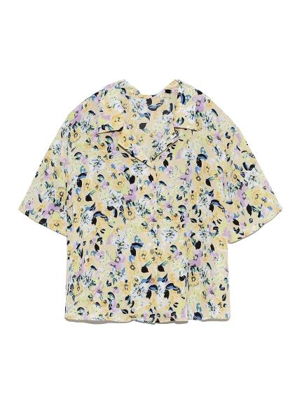 ヴィンテージフラワーシャツ(YEL-F)