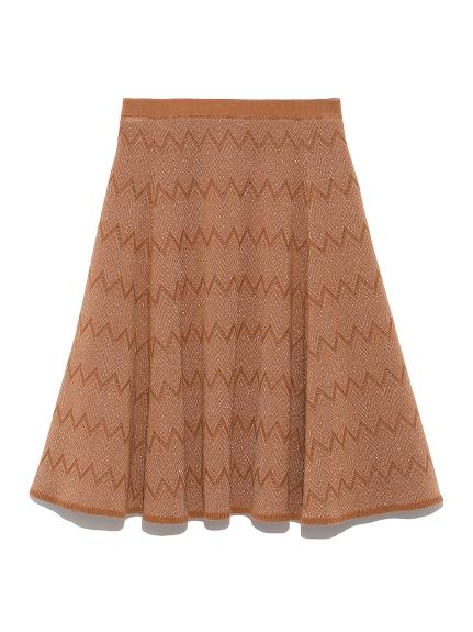 柄編みニットスカート