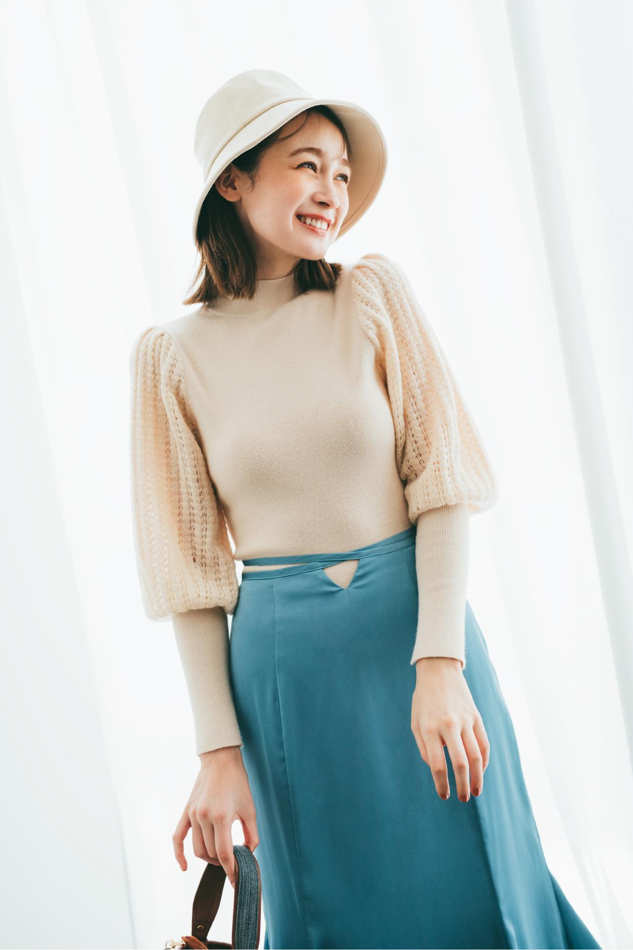 "How to wear? 7 KEY ITEMS SACHI FUJII モデル・藤井サチが着こなす""7つ""のキーアイテム"