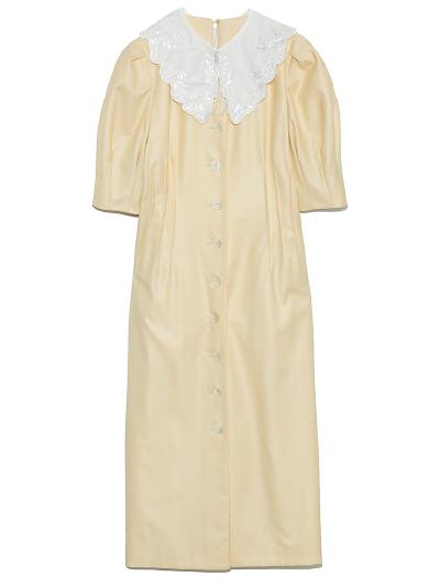 衿付きVネックワンピース ¥14,500+tax