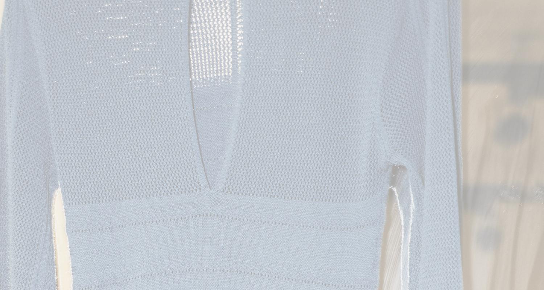 ヴィンテージ透かし編みワンピース